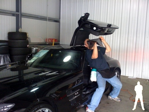 Mercedes SLR tint window training